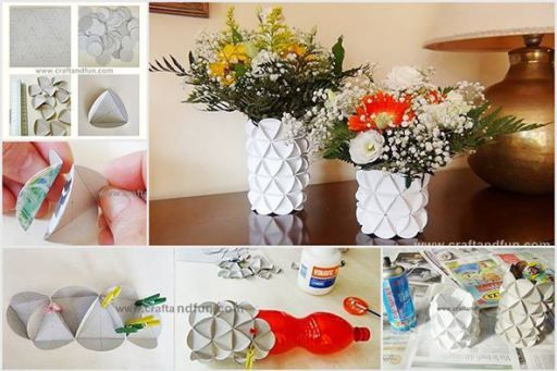 How to make diy flower vase from recycled cereal boxes home cereal boxes or other package papers are good supplies for diy crafts in this do it yourself project craft and fun will show you how to make beautiful solutioingenieria Gallery