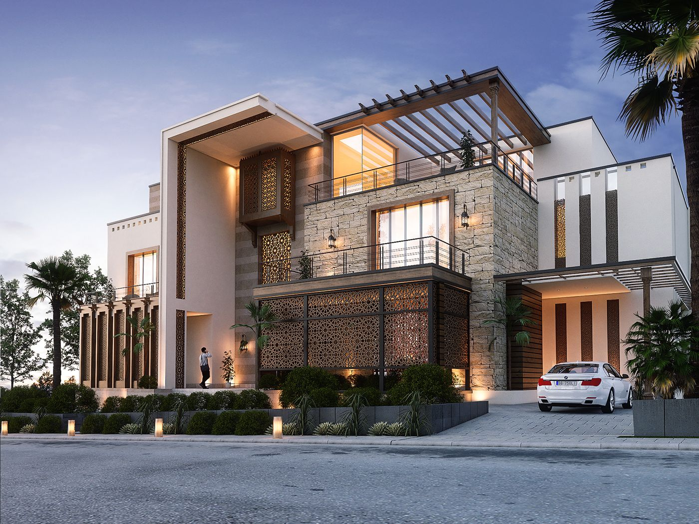 This project located in Oman,The concept here was to use modern ...