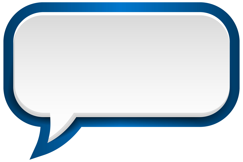 Bubble Speech Blue White Clip Art Image