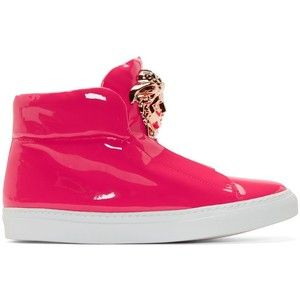 Versace Pink Patent Leather Medusa High-Tops