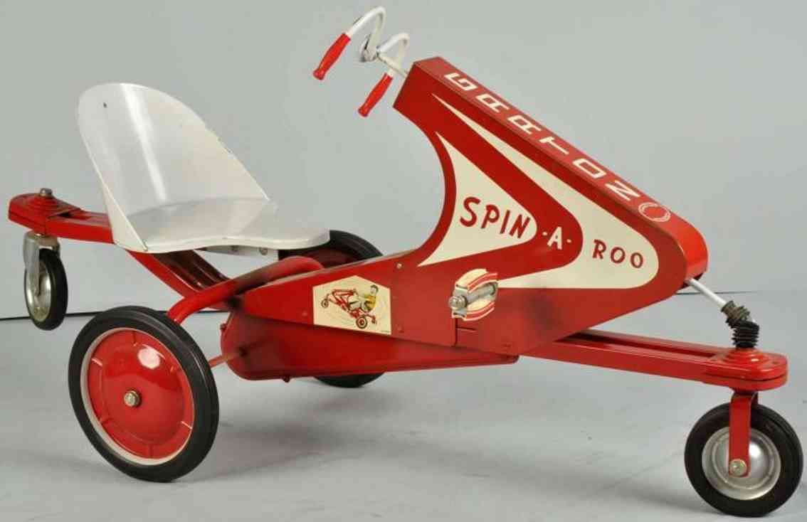 Toys New Garton Toy Co Spin A Roo Rid On Toy Pressed Steel Pedal Cars Toys Vintage Toys
