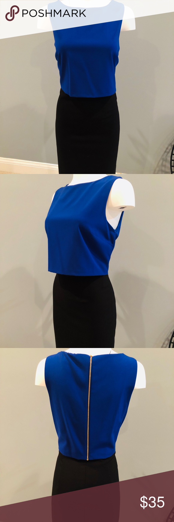 fa983d71413 Ivanka Trump Brand New Navy and Blue Dress Fun dress with zipper in the  back. Black pencil skirt with blue shell top. This is a one piece item.