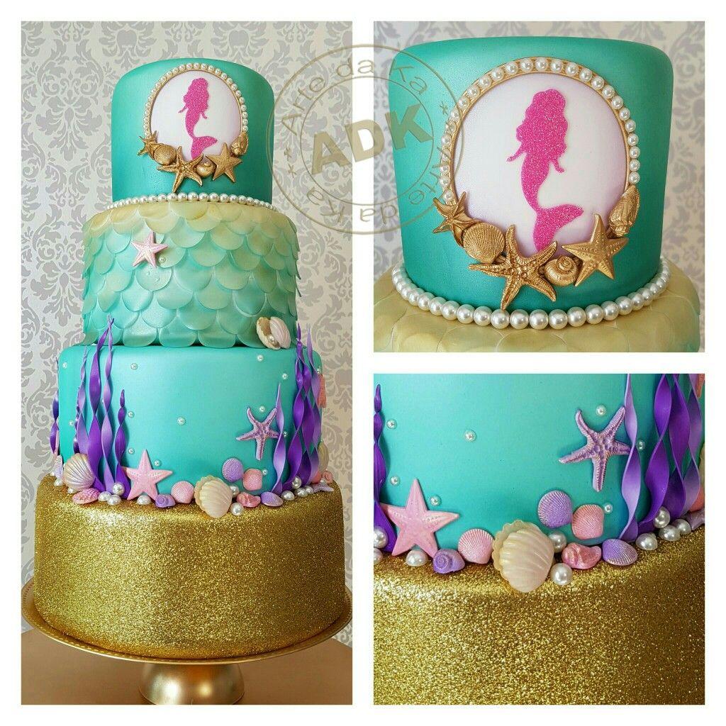 Marmeid cake sereia My Work Pinterest Cake Mermaid and