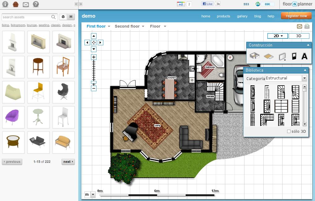 Floorplanner programa para dise ar planos online for Programa para disenar dormitorios online