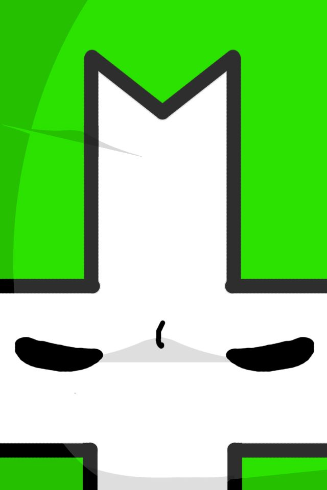 castle crashers green knight iphone wallpaper by