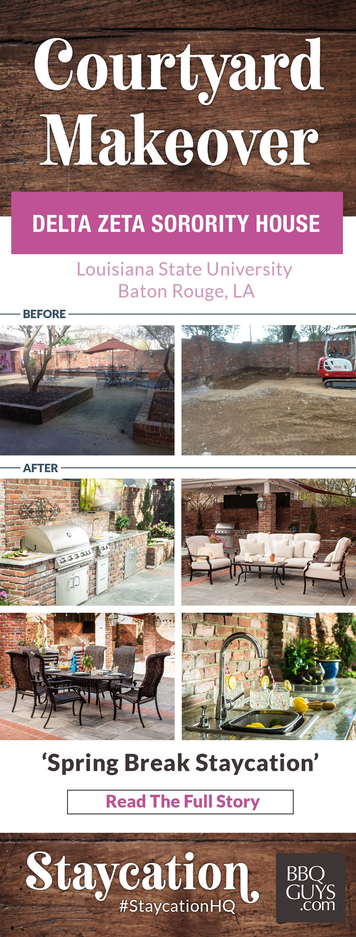 Spring Break Staycation When The Delta Zeta Sorority House At Louisiana State University Needed A Courtyard Upgrade They Tur Spring Break Staycation