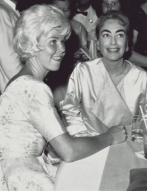 Doris Day and Joan Crawford: This photo is from a magazine ...
