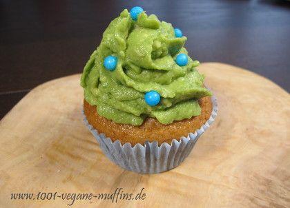 vegane Avocado-Weihnachtsbaum