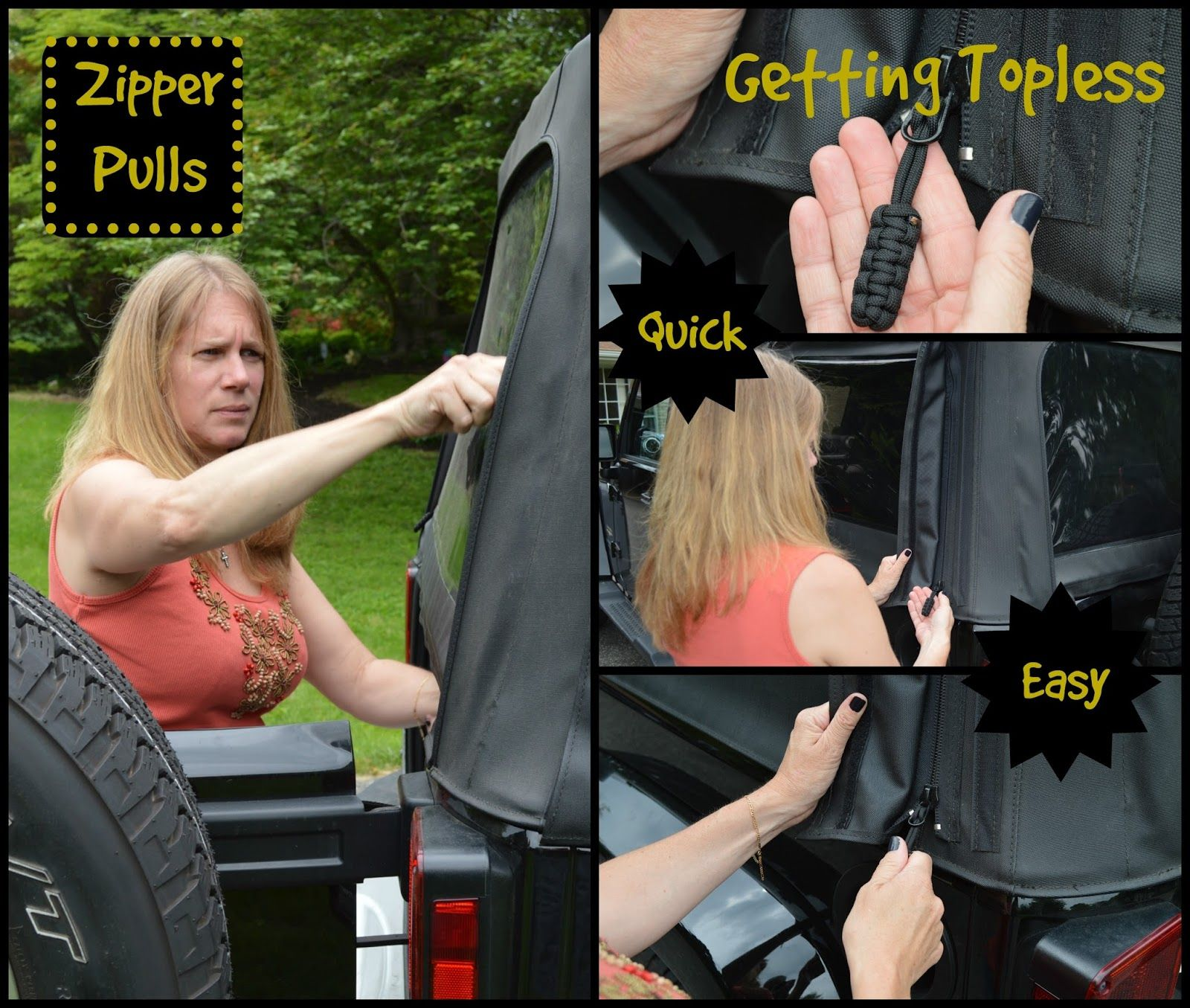 Zipper Pulls Jeep Wrangler Jeep Wrangler Soft Top Soft Tops