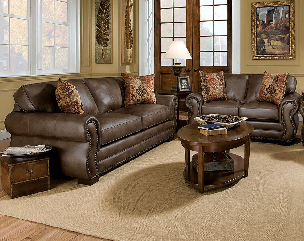 Best Ulysses Chocolate Sofa Loveseat Living Rooms 400 x 300