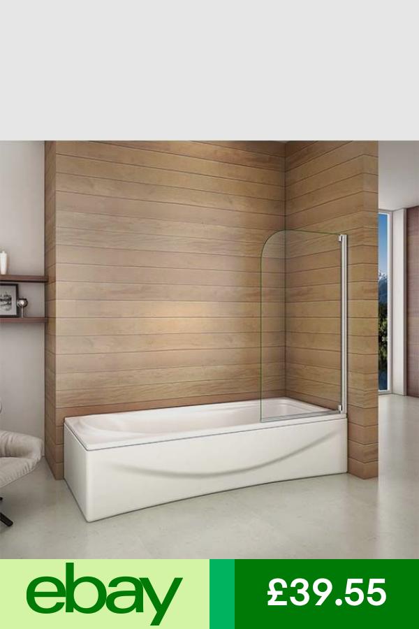 800x1400mm Aica 90 Pivot Bath Shower Screen 4mm Satefy Clear Glass Door Panel Bath Shower Screens Shower Screen Shower Bath