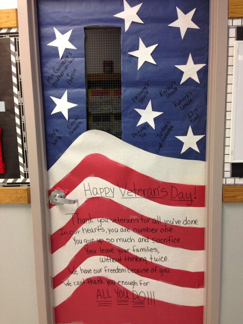 Veterans Day Classroom Door Decoration Ideas ~ Veteran s day door decoration rd grade my