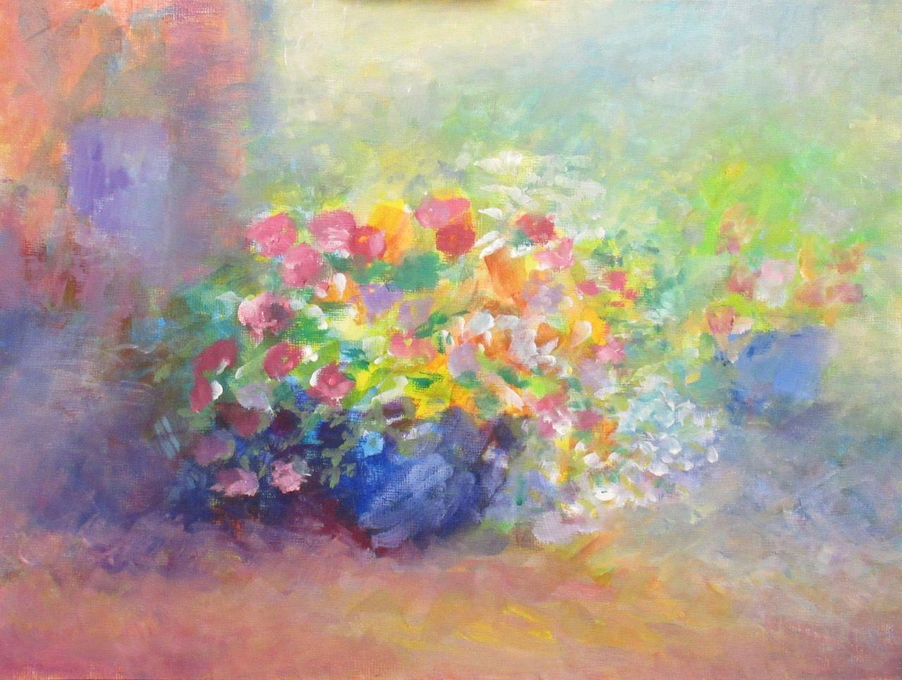 An oil painting over acrylic by Bernice