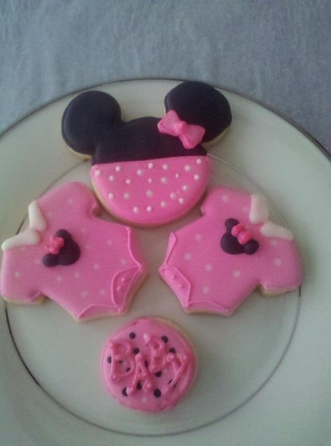 Baby Shower Cookies Minnie Mouse Theme In 2018 Baby Shower Ideas