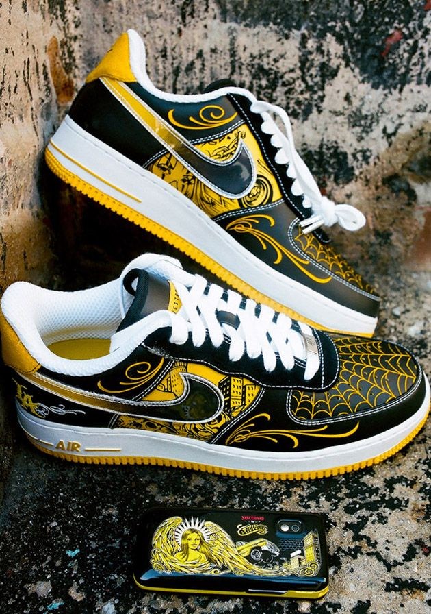 save off 96fe3 4f38c Nike Air Force 1's x Mr. Cartoon x Live Strong | My Style ...