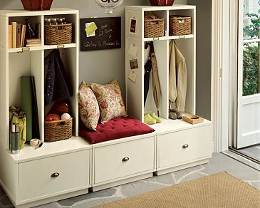 Perfect Everyone Gets Their Own Locker Pottery Barn Brady Entryway Collection Brady Entryway Collection Mud Room Storage Home Mudroom Furniture