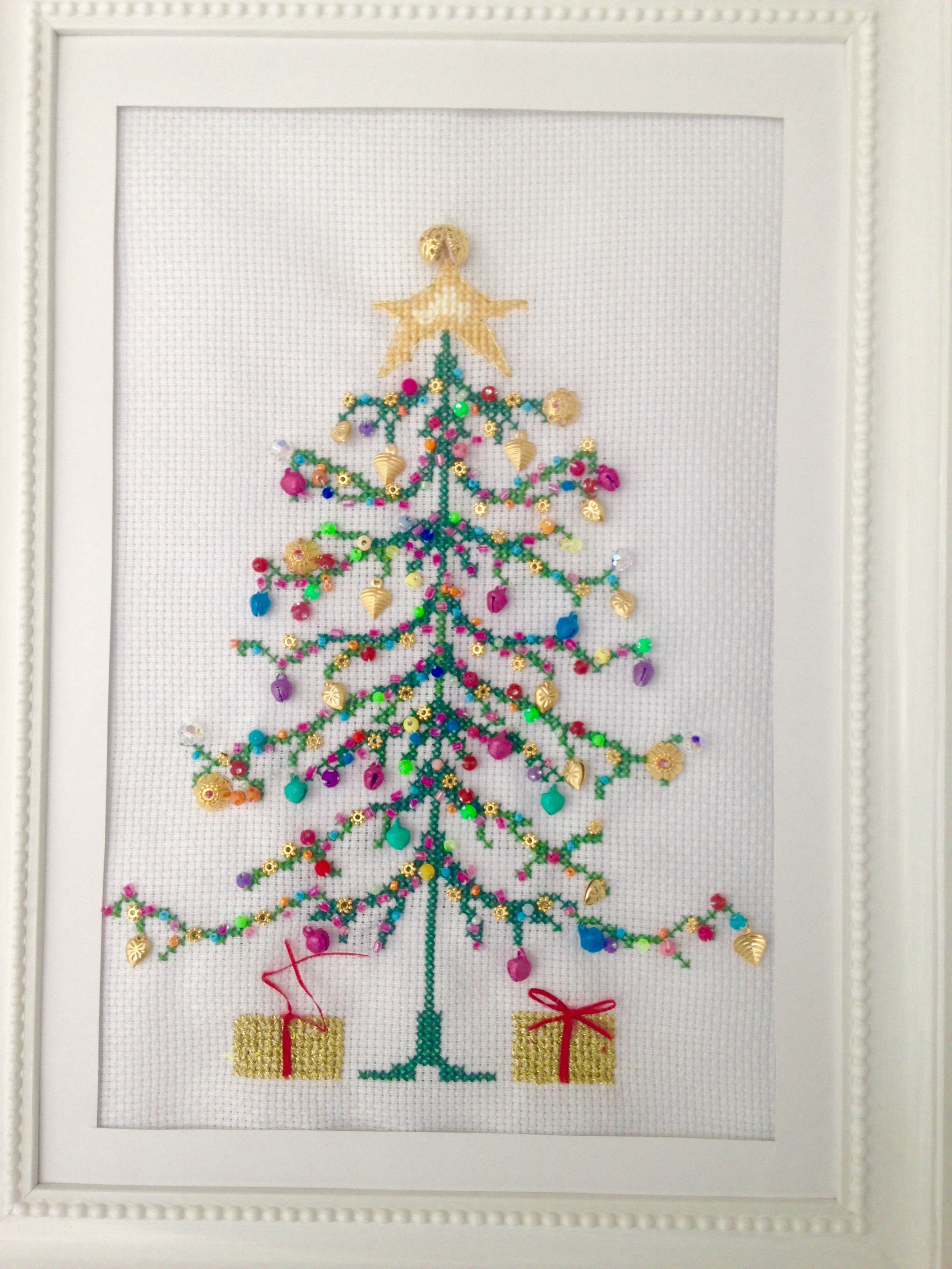 Scandi Tree Bothy Threads counted cross stitch kit 14 count parchment aida