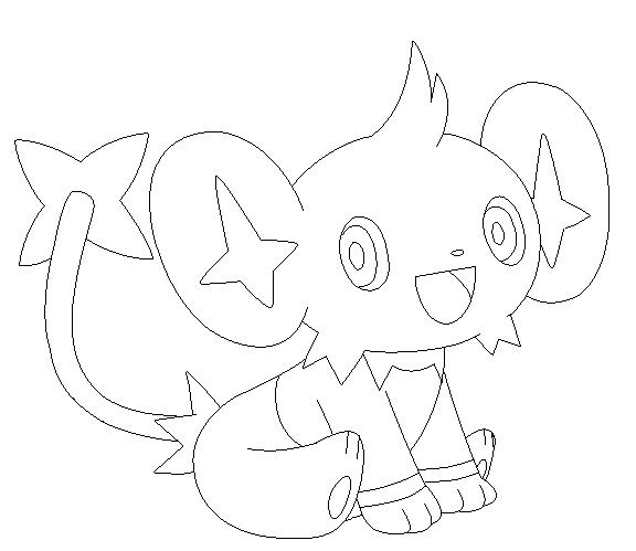 pokemon coloring pages shinx nicknames | shinx lineart 2 by michy123 on DeviantArt | Pokemon sketch ...