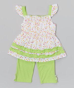 Another great find on #zulily! Lime Angel-Sleeve Tank & Lime Leggings - Infant & Toddler by Coney Island Kids #zulilyfinds