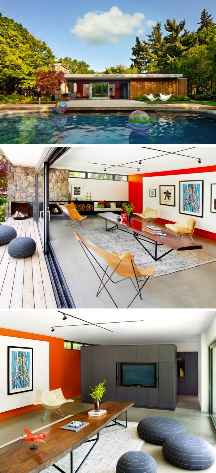 Poolhaus im Retro-Design | Minimalist house architecture | Pinterest ...