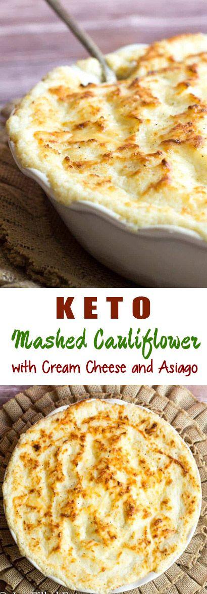 KETO MASHED CAULIFLOWER WITH CREAM CHEESE & ASIAGO images