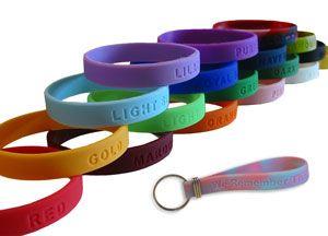 43a2e27f6293c Custom Debossed Silicone Wristbands www.GoodsForGiving.com | 100 ...