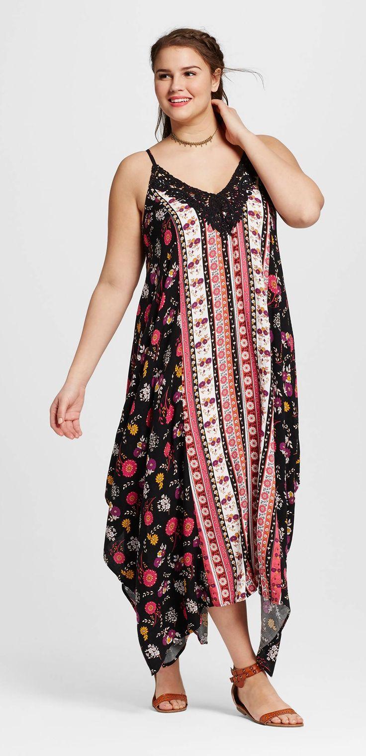 Plus Size Floral Handkerchief Dress Plus Size Fashion Pinterest