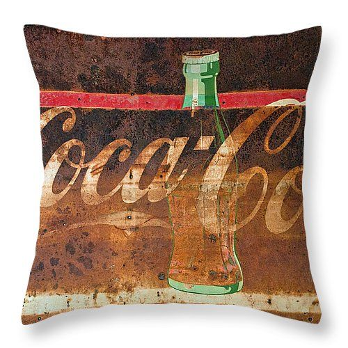 "Drink Coca-Cola Throw Pillow 14"" x 14"""