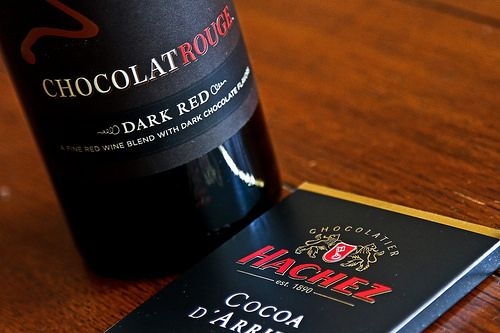 Chocolate flavoured wine