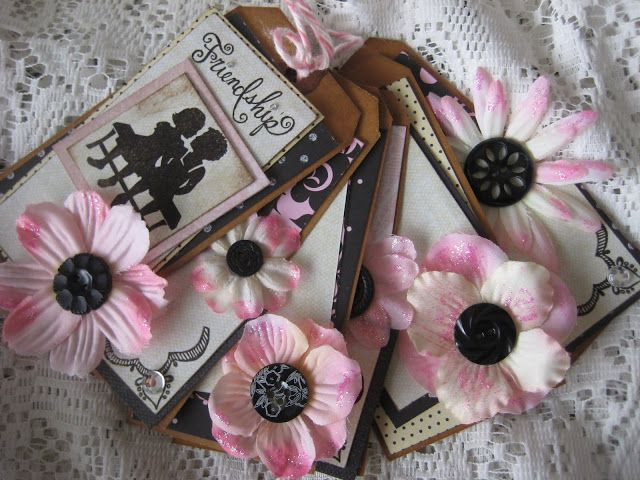 Friendship black and pink tag book