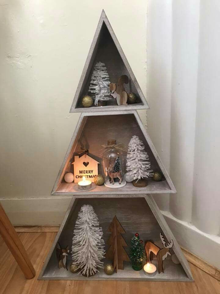 Pin By Vada Dahl On Kmart Ideas Wall Christmas Tree Wooden Xmas Trees Wooden Christmas Trees