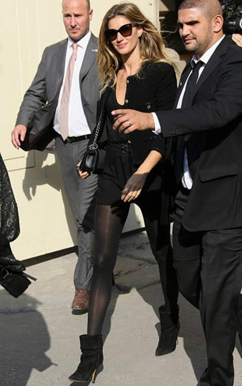a15088187312 Gisele Bundchen wearing Isabel Marant Audrey Suede and Leather Boots in  Black