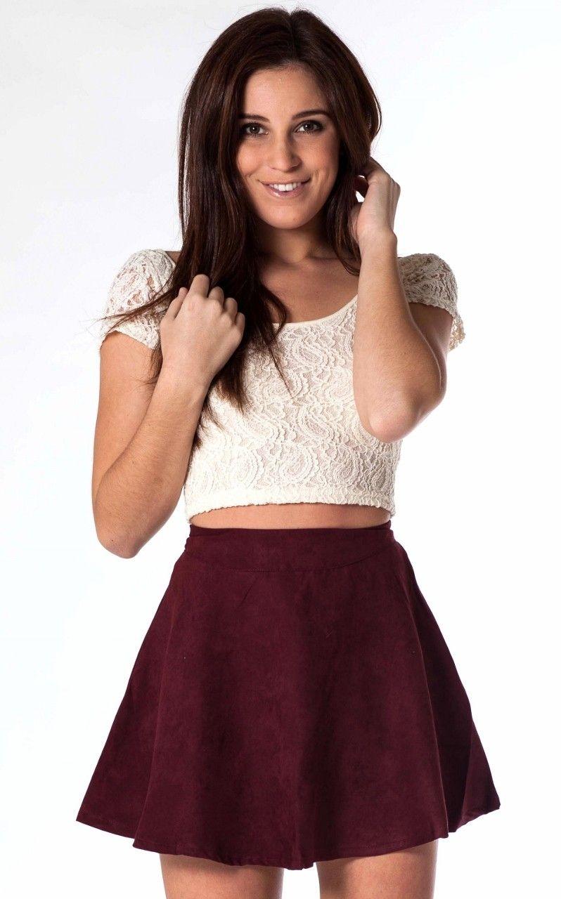77138c35d77f Burgundy Skater Skirt