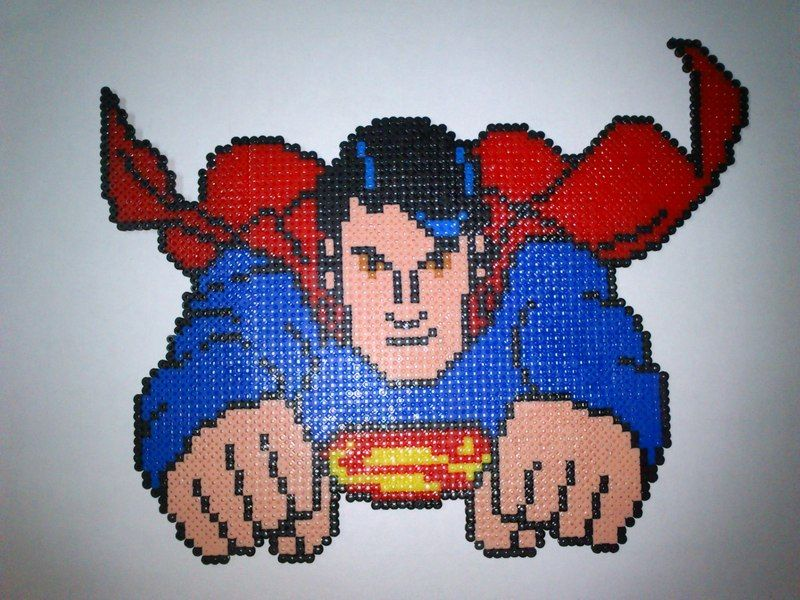 Superman hama beads by Dabega