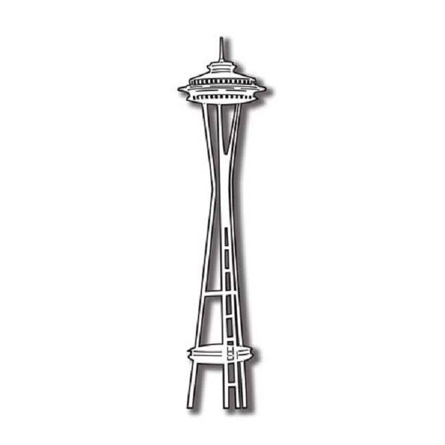 coloring pages space needle - photo#4