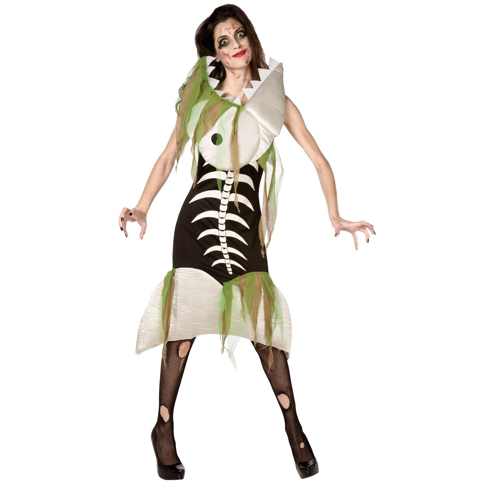 Zombie fish adult costume halloween pinterest costumes for Sexy fish costume
