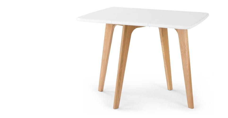 Fjord Table A Rabats Rectangulaire Chene Et Blanc