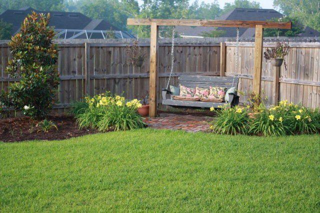 backyard swing outdoor living