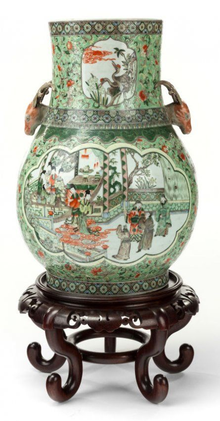 62200 A Monumental Japanese Porcelain Vase On Stand 19 On In 2018