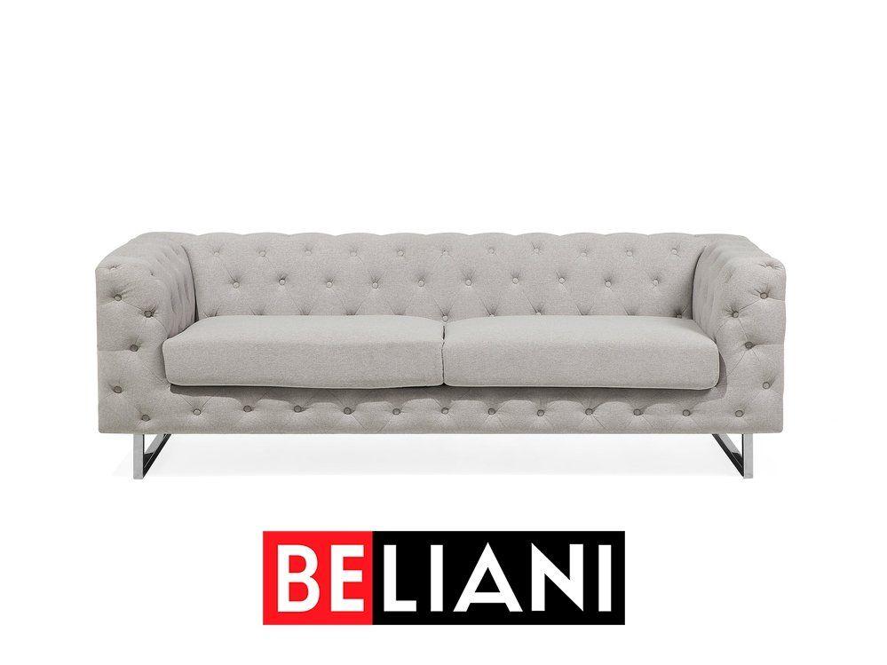 Luxurioses Sofa Set In Beige Im Klassischen Chesterfield Stil In