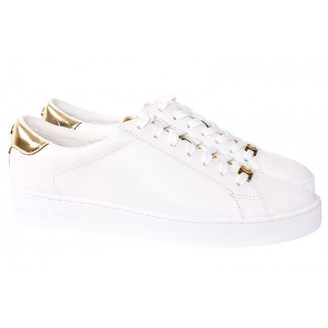 Witte Michael Kors Baskets Irving Lacer 6IaL40Fok6