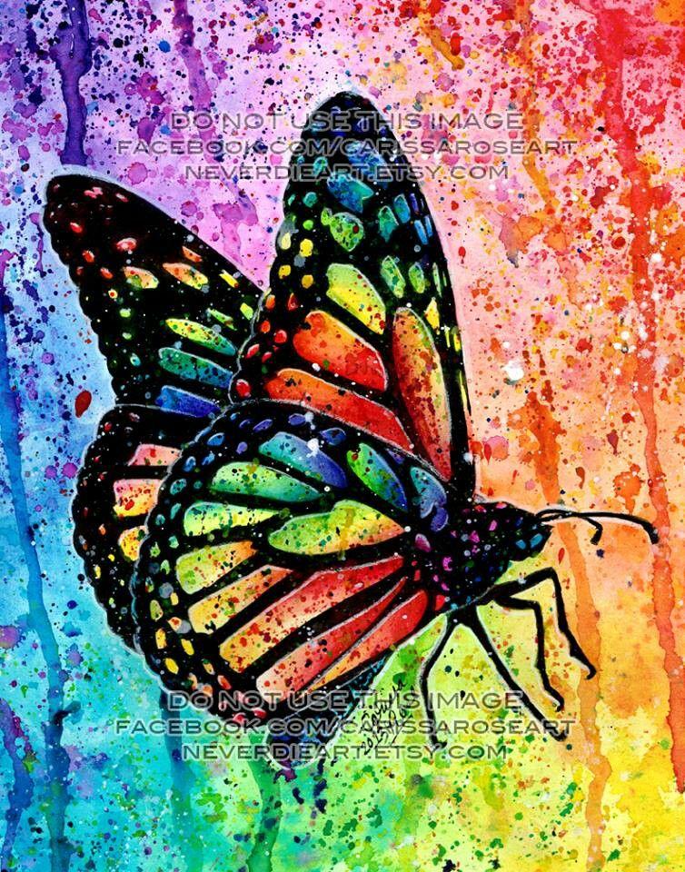 butterfly by carissa rose art akwarele pinterest farbenfroh schmetterlinge und bunt. Black Bedroom Furniture Sets. Home Design Ideas