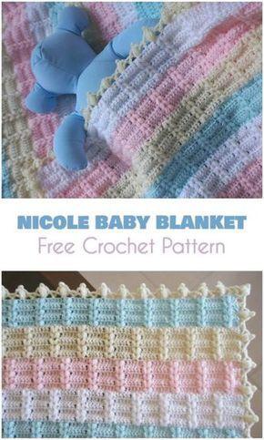 Nicole Baby Blanket [Free Crochet Pattern] Beautiful blanket or ...