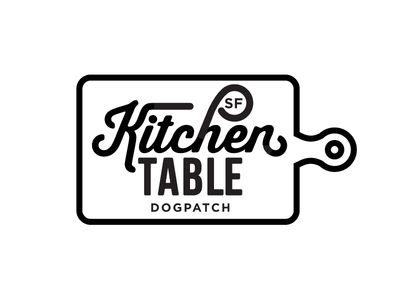 Kitchen Table Sf Logo A  Logos Food Logos And Typography Unique Kitchen Design Logo 2018