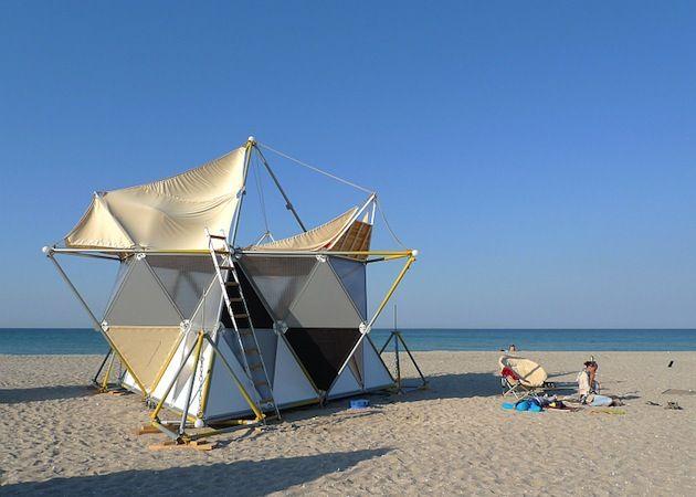 Y-Bio Modular Beach Shelter & Y-Bio Modular Beach Shelter (5) | Housing improvised | Pinterest