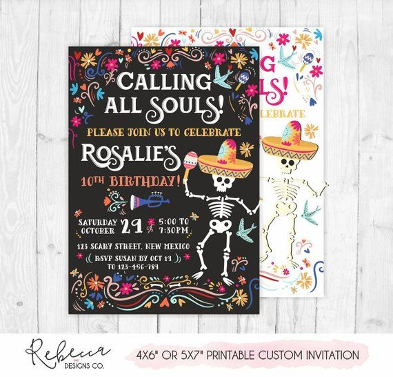 Day of the dead invitation printable halloween inv