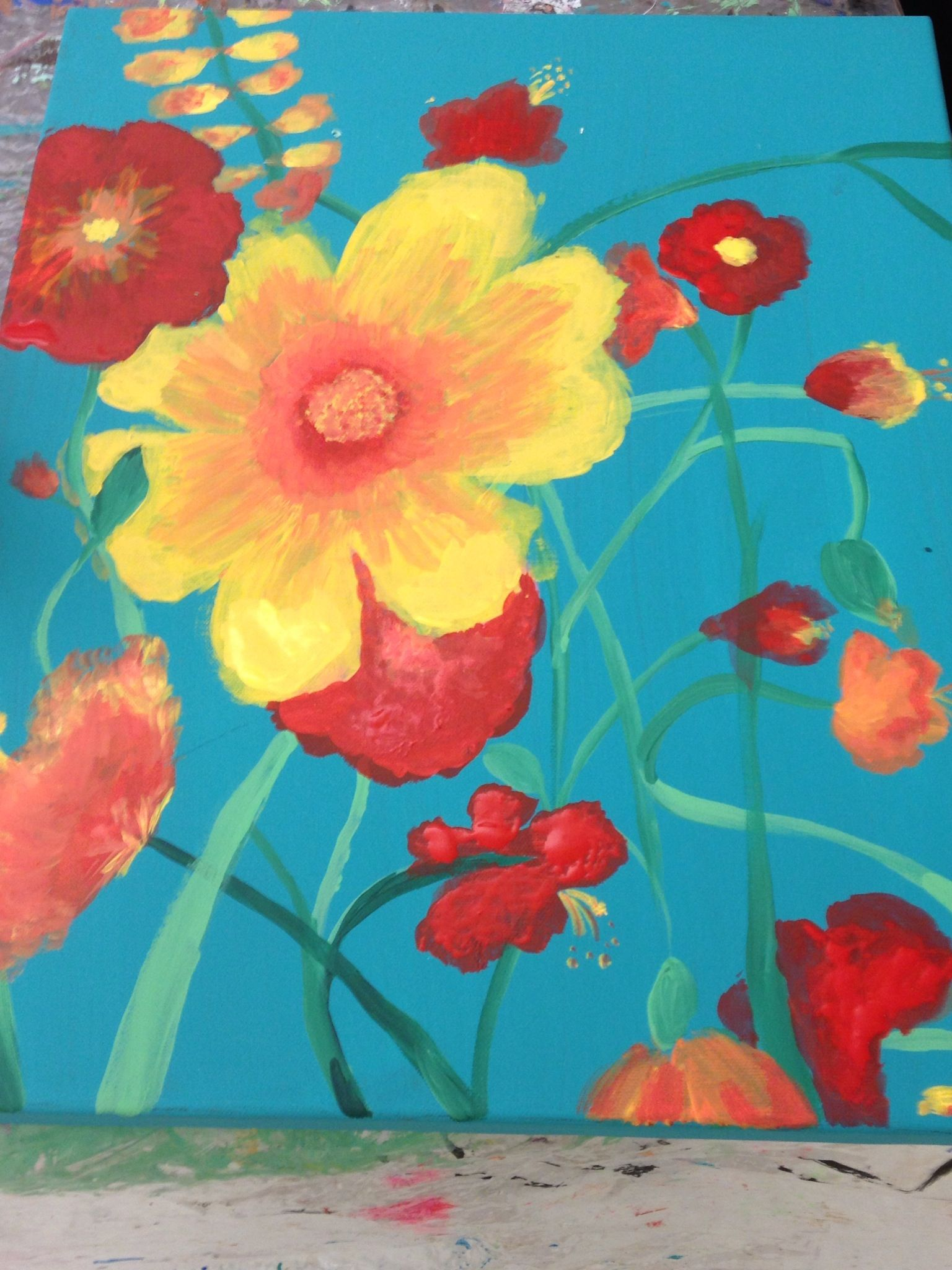 Turquoise Red And Yellow, Iam Using These Colors To Redecorate My Living  Room