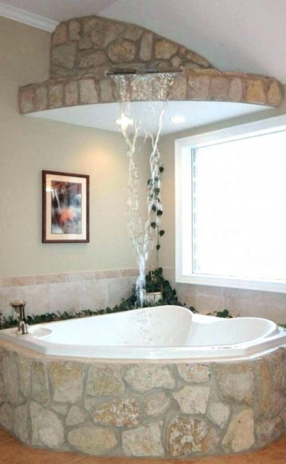 30 Small Bathroom Tub Shower Combo Ideas In 2020 Corner Jacuzzi
