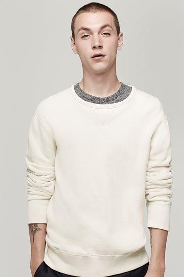 Rag & Bone - Classic Sweatshirt, Off White