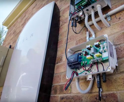 First Tesla Powerwall System Installation on TV